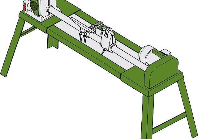 Le tour à bois pour arrondir une pièce carrée